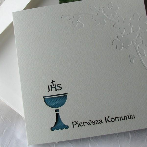 Zaproszenia Na Komunię Zaproszenie Na Komunię świętą K 1724 20 Turkus