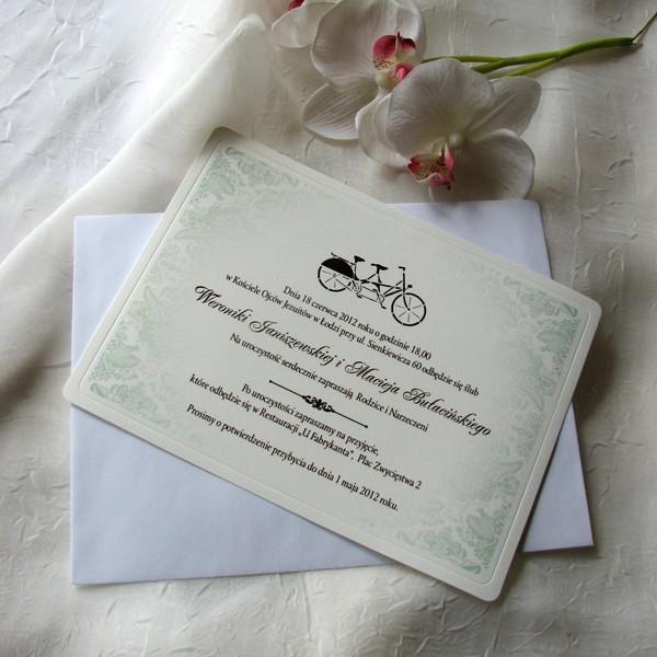 Cała Kolekcja Zaproszenie 1738 Rower Zielony