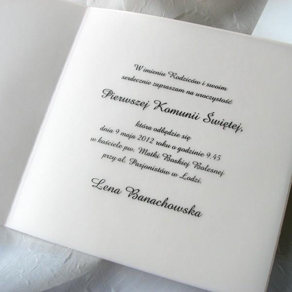 Zaproszenia Na Komunię Zaproszenie Na Komunię świętą K 1747 20 łąka